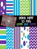 Blue, Green, Purple Digital Paper {Graphics by SPC}