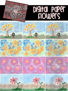 Digital Paper Flower Packet {Graphics by SPC}