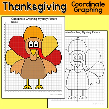 Thanksgiving Math Coordinate Graphing Picture Turkey Mystery Picture