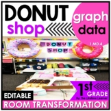 1st Grade Graphing   Donut Shop Classroom Transformation