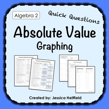 Absolute Value Graphing Activity: Fix Common Mistakes!