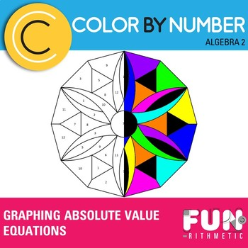 Graphing Absolute Value Equations Color by Number