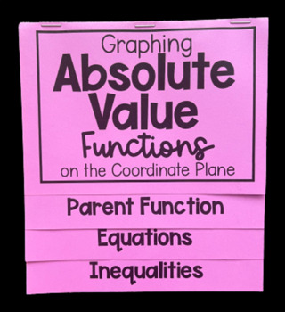 Graphing Absolute Value Equations & Inequalities (Foldable)