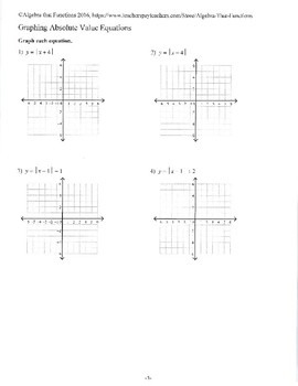 Graphing Absolute Value Functions Coloring Activity  2A 2A  2A 6C in addition  also  together with Solving Absolute Value Equations Worksheet – Fronteirastral additionally  besides Alge 2 Graph Absolute Value Functions Worksheet by Plain and besides Graphing Absolute Value Functions Practice Review by Alge That additionally Graphing Absolute Value Functions Answers Beautiful Graphing in addition Chapter 3 Graphs and Functions ppt download in addition Absolute Value Function The best worksheets image collection additionally Alge 2 Worksheets   Linear Functions Worksheets also Graphing Absolute Value Equations Worksheet   Unboy org also Graphing Absolute Value Functions Worksheet for 9th Grade   Lesson moreover  together with Chapter 3 Graphs and Functions ppt download also Graphing Absolute Value Functions Worksheet. on graphing absolute value functions worksheet