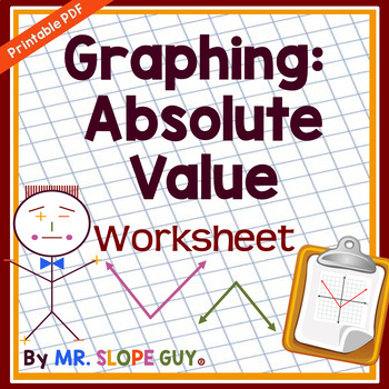 Absolute Value Functions Graphing Worksheet