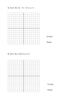Graphing Absolute Value Functions & Identifying its Domain and Range