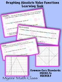 Graphing Absolute Value Functions Learning Task -- Editable
