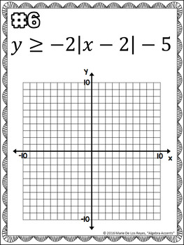 Graphing Absolute Value Inequalities Independent Practice Booklet