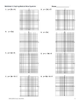 Graphing Absolute Value Practice Worksheet Key Shifting Reflections