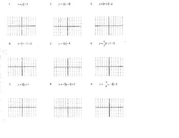 graphing absolute values re loop and reteaching lessons - Graphing Absolute Value Functions Worksheet