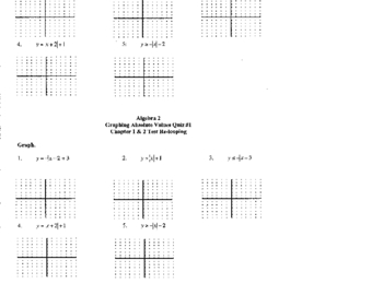 Graphing Absolute Values Re-loop and Reteaching Lessons