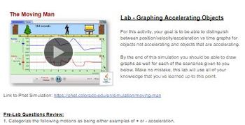 Graphing Acceleration Lab - Phet Simulation Moving man