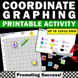 Graphing Activities, Coordinate Grid Worksheets up to 12x12 Quadrant 1