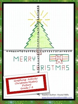 Graphing Activity: Christmas Mystery Picture (Grade 7-8)
