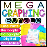Graphing MEGA Bundle: Line Plots, Pictographs, Bar Graphs