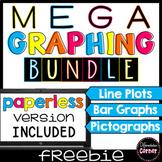 Graphing Activity Mega Bundle Freebie: Line Plots, Pictographs, Bar Graphs