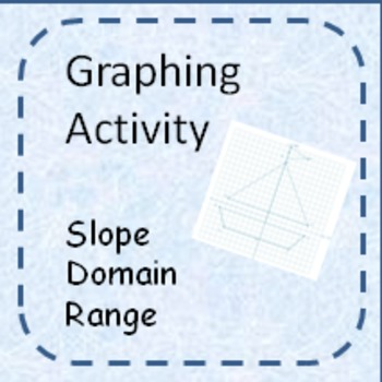 Graphing Activity-write equations, domain, and range