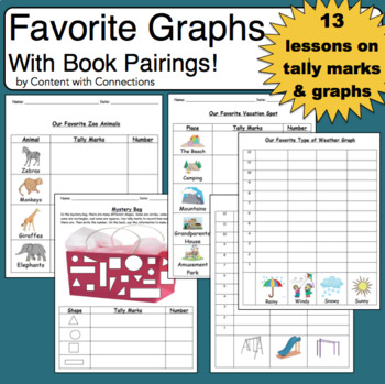 Graphs: Favorite Shape, Leaf Shape, Vacation Spot & More! Great for sub plans!