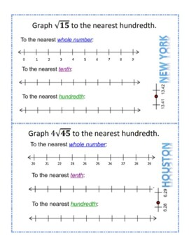 Graphing Approximations of Irrational Numbers Scavenger Hunt
