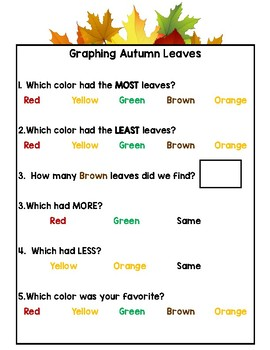 Graphing Autumn Leaves