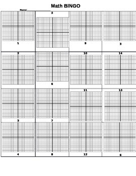 Graphing BINGO Sheet