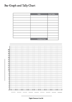 Graphing - Bar Graph and Tally Chart (Ones)