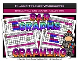 Graphing - Bar Graphs (Horizontal) - Grade Two (2nd Grade) - Worksheets/Test