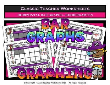 Graphing - Bar Graphs (Horizontal) - Kindergarten - Worksh