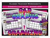 Graphing - Bar Graphs (Horizontal) - Kindergarten - Worksheets/Test