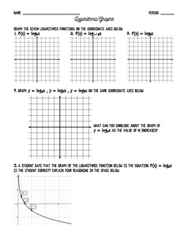logarithmic functions worksheet resultinfos. Black Bedroom Furniture Sets. Home Design Ideas