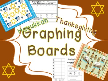 Thanksgiving and Hanukkah- Graphing Boards