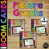 Graphing Boom Cards™ with Audio for Kindergarten 1st and 2nd Grade Picture Graph
