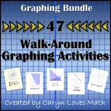 Graphing Bundle - 47 Walk Around Activities~Linear~Quadratic~Inequalities