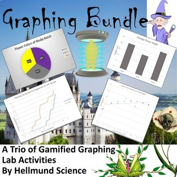 Graphing Bundle-  3 Quests- Keep Up, Slender Strangers, and The Skulip Grower