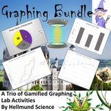 Graphing Bundle-  3 Graphing Quests and Guided Notes with a Companion Notebook!