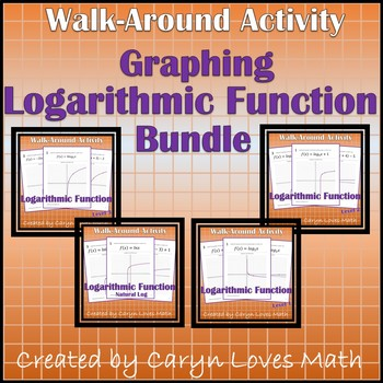 Graphing Bundle ~4 Logarithmic Functions Walk Around Activity