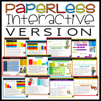 Graphing Activity Bundle:Bar Graphs, Pictographs, Line Plots with anchor charts