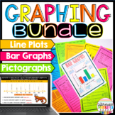 Graphing Activity Bundle:Bar Graphs, Pictographs, Line Plots Distance Learning