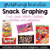 Graphing Bundle!  M&M's, Skittles, Fruit Loops, Goldfish,