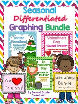 Graphing Practice Unit: 3 Seasonal Differentiated Graphing {January-March}