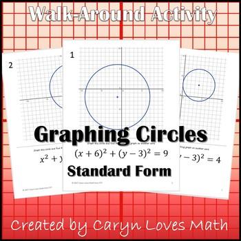 Graphing CIRCLES in Standard Form - Center-Radius ~ Walk Around Activity