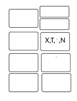 Graphing Calculator Buttons Template