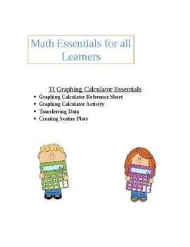 Graphing Calculator Essentials