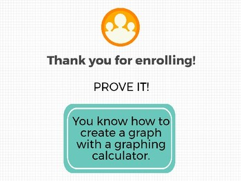 Graphing Calculator Graph Maker Digital Badge