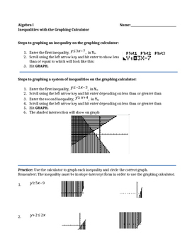 Graphing Calculator-Graphing Systems of Inequalities