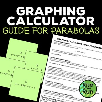 Graphing Calculator Tutorial for Parabolas, Free