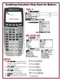 Graphing Calculator Help Sheet