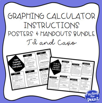 Graphing Calculator Instructions Posters and Handouts Bund