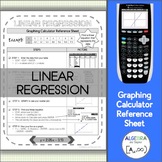 Linear Regression | Graphing Calculator Reference Sheet