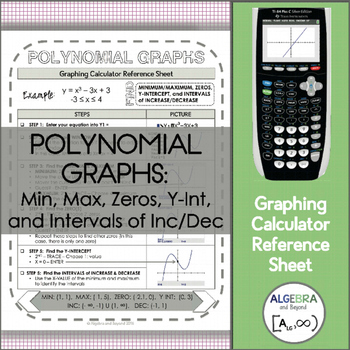 Graphing Calculator Reference Sheet: Polynomial Graphs